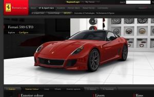 Ferrari spustilo konfigurátor F 599 GTO