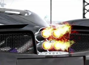 Pagani Huayra: Rykot výfuků při jízdě na okruhu (video)