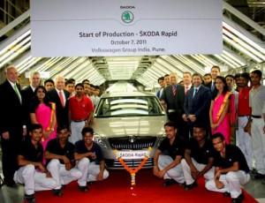 Škoda zahájila v Indii výrobu modelu Rapid