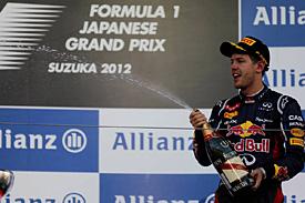 Vettel se v Japonsku přiblížil vedení v šampionátu