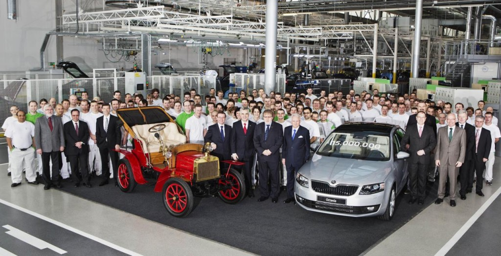 Škoda Auto vyrobila 15 milionů aut