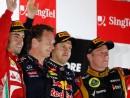GP Singapuru podium
