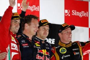 GP Singapuru: Třetí vítězství Vettela v řadě